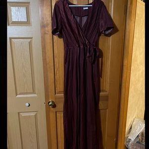 Maroon Jumpsuit with Blue Stripes 😻